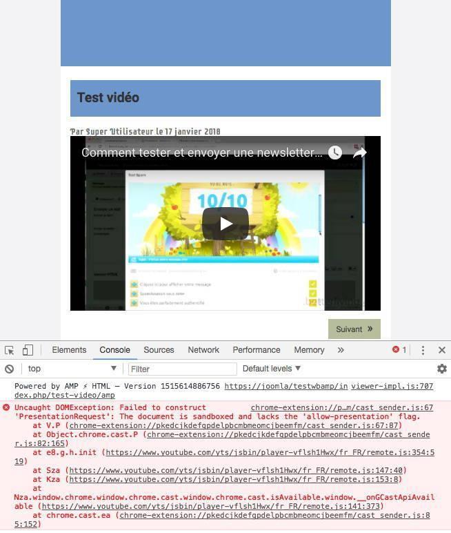 Affichage des vidéos Youtube dans wbAmp