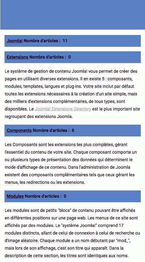 Catégories d'articles wbAmp