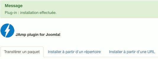 Installation de l'extension JAmp pour Joomla!