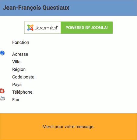 Message du formulaire de contact Joomla! dans wbAmp