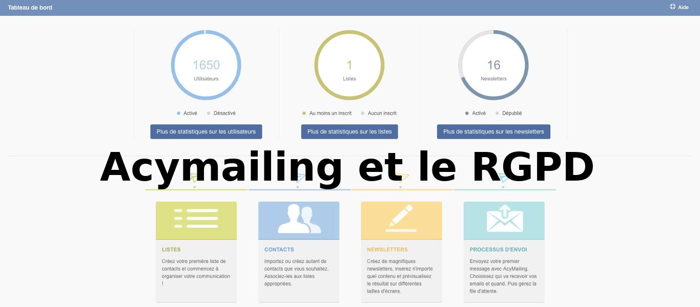 Conformité RGPD Joomla! | Acymailing