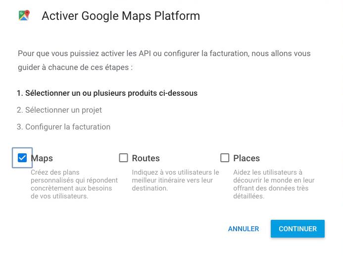 Produits Google Maps