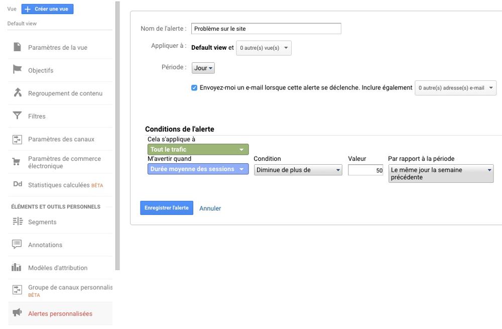 Protection site Joomla! - Alerte Google Analytics