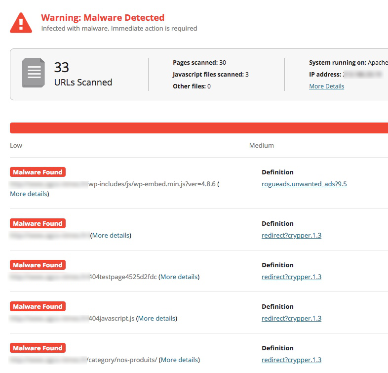 Sécurité site Joomla! - Rapport de piratage de site