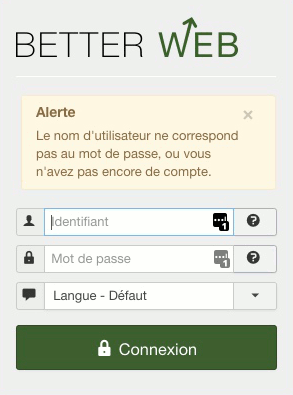 Message d'erreur back end Joomla!