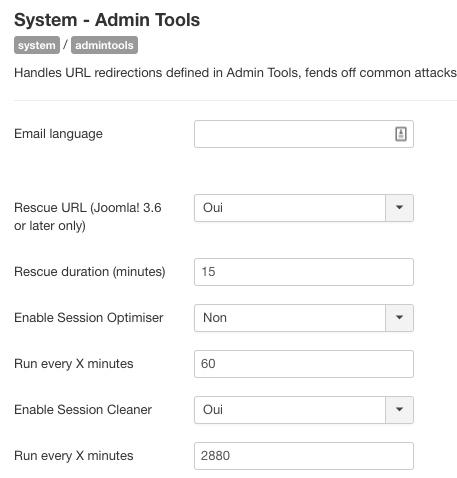 Plugin système Admin Tools Pro