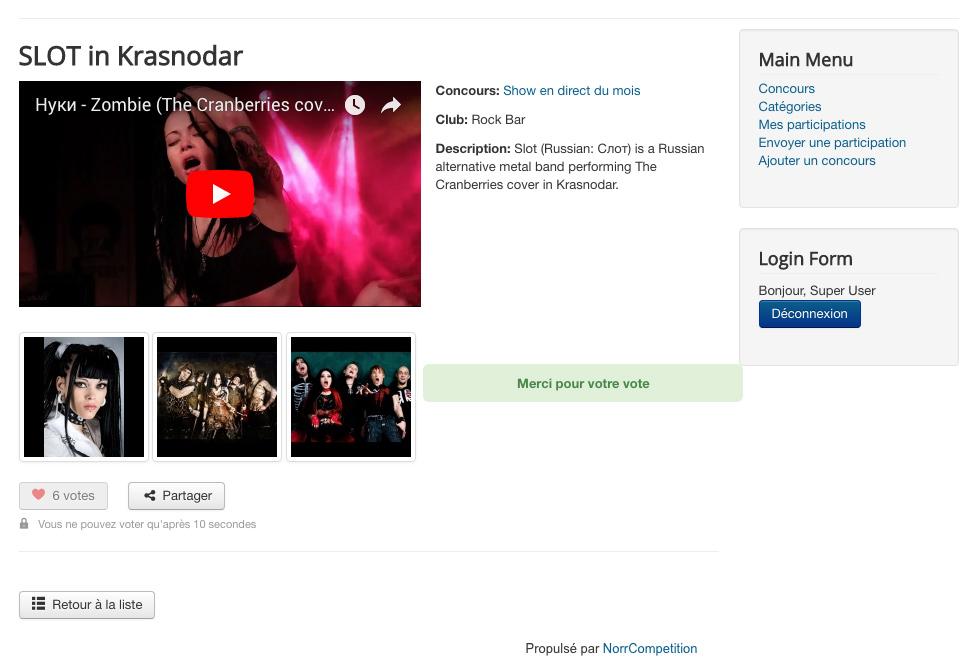 Page de participation concours NorrCompetition